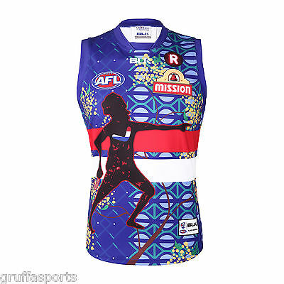 Western Bulldogs 2016 Indigenous Guernsey Sizes M & L Adults BLK SALE
