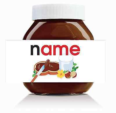 Nutella Labels! - 3 x Personalised 'Original' Labels for 750g Jar!