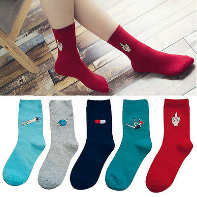 New Fashion Harajuku Candy Color Women Girls Casual Cute Cartoon Warm Socks