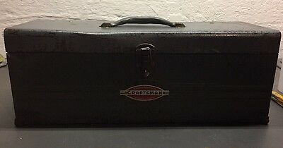 """Vintage Craftsman 19"""" Wide Hand Carry Tool Box! Cool Patina! Rat Rod! 40's/50's!"""