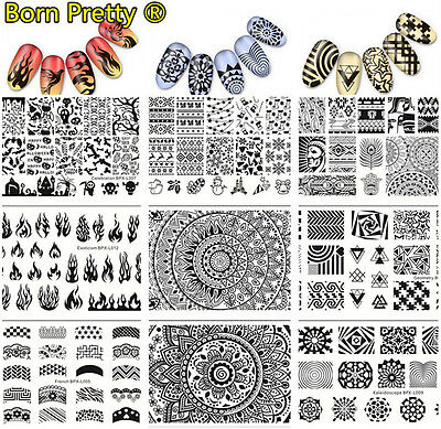 NEW Born Pretty Nail Art Stamping Plates Stainless Steel Image Nails Templates