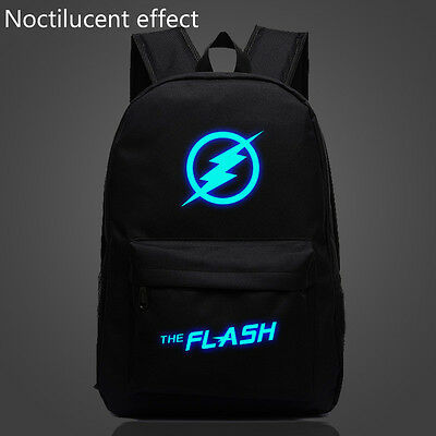 """18"""" Noctilucent The Flash Backpack for Boys Girls Teenagers Sport School Bags"""