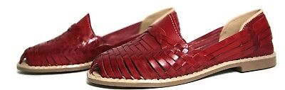 1dc781085bf3 Women s MEXICAN SANDALS Closed Toe COLONIAL Style RED by SIDREY Huarache  Sandals