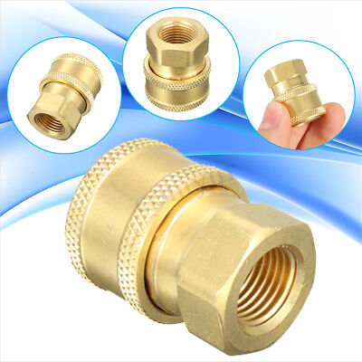 1/4'' Quick Release To BSP 1/4'' Female Pressure Washer Hose Adaptor Nozzle Gold