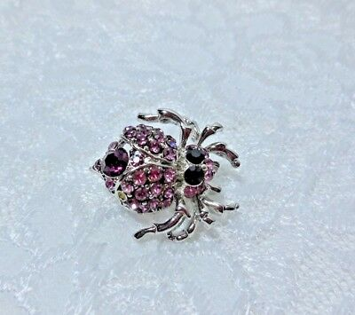 """Spider Pin 1-1/8"""" Quality Purple Crystals"""