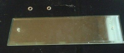Antique Vintage  Beveled Glass Door Push Plate
