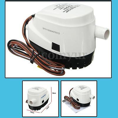 12V 750GPH Marine Boat Automatic Submersible Bilge Water Pump Built Compact New