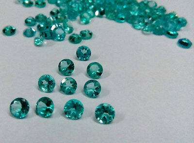 Natural Apatite Round Cut 1mm-6mm Top Quality Greenish Blue Color Loose Gemstone