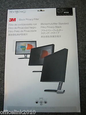 "3M PF17.0 Black Laptop Privacy Filter 17"" Diagonal 271mm high x 338mm Wide"