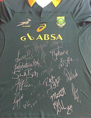 South Africa Rugby Springboks Signed Shirt 2016+Photo Proof See Players Sign