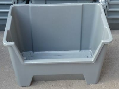 Pallet Racking Plastic Storage Bins Boxes With Scooped Front X 10