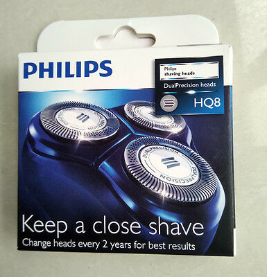 New 3 X Genuine Shaver Razor Replacement Blades Heads for Philips Norelco HQ8/52