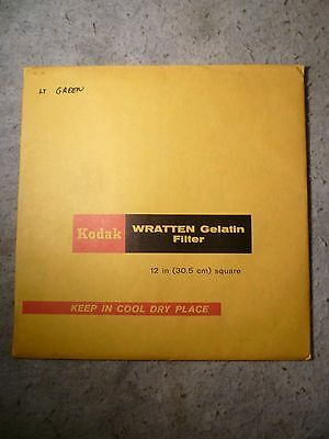 "Kodak 12"" 30.5Cm Wratten Gelatin Filter Green Opened But Looks Unused *1 Of 2*"