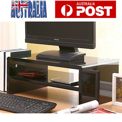 Wooden Monitor Stand Riser HD LED Desk Monitor Mount Display Rack High Glossy