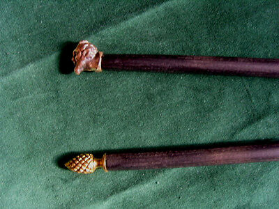 A Fine pair of Wiccan / Occult Wands used in Rituals connected with the God Pan
