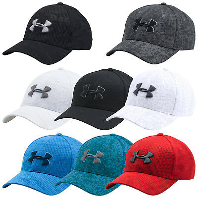 Under Armour Mens Print Blitzing Cap New Ua Sports Baseball Hat Stretch Fit 2016