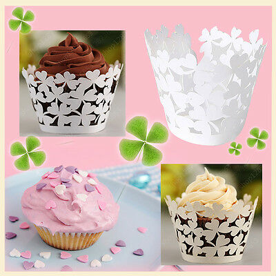 20-100 Hollow Cupcake Paper Cake Case Baking Cups Dessert Cup Wedding Party Deco