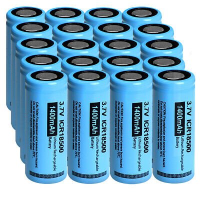 50 x PKCELL 3.7V Battery 18650 2200mAh Li-ion Rechargeable For Flashlight Torch