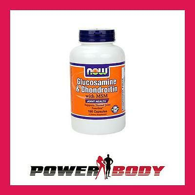 NOW Foods - Glucosamine & Chondroitin with MSM - 180 caps
