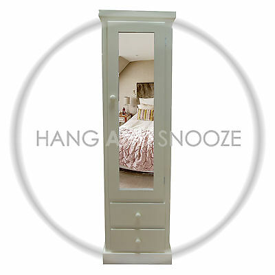 Handmade Dewsbury 2 Drawer  1 Door Wardrobe  (Assembled)