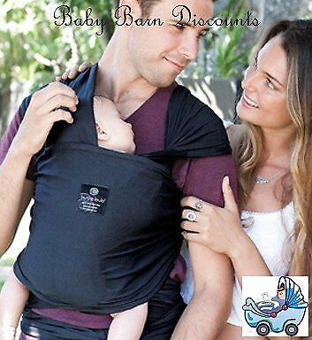 NEW Hug a Bub - Light Weight Wrap Carrier - Charcoal from Baby Barn Discounts