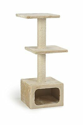 Beeztees Scratching Post Dora 38 X 38 X 91Cm Beige Pet Comfort Comfortable New U • EUR 40,69