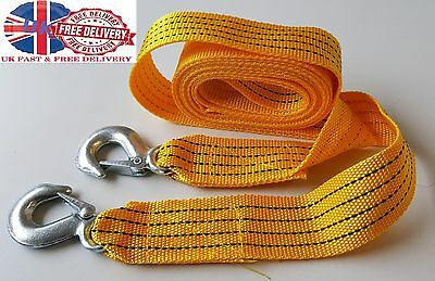 13 Fit Tow Towing Pull Rope Strap Heavy Duty Road 5 Tonne 5T Car Van Recovery