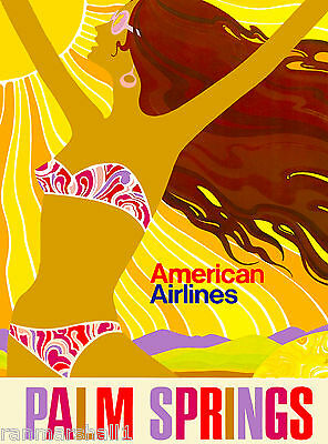 Palm Springs California American United States Travel Advertisement Art Poster