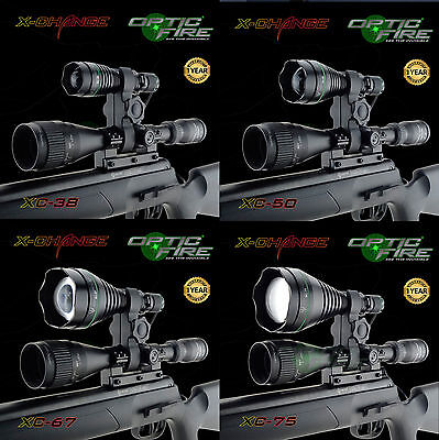 Opticfire® XC High power LED Hunting torch gun light scope mount lamping lamp