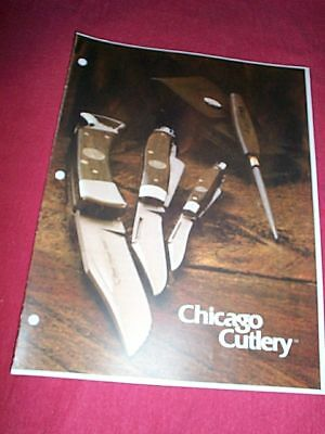 1981 Chicago Cutlery Knife Catalog Reference Book Flyer Copy