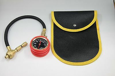 4x4 extreme challenge rapid tyre deflator and gauge brass with shock cover