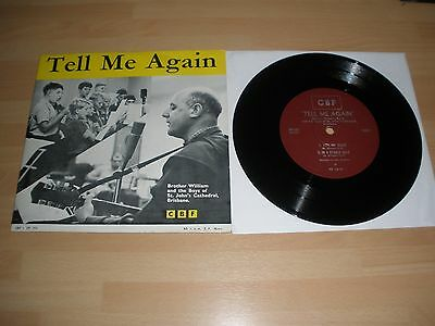 "Brother William & Boys Of St. John's Cathedral 7"" Vinyl P/s Tell Me Again Ex """