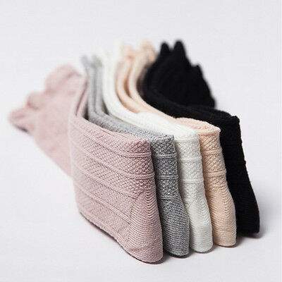 Toddler Kid Baby Girl Knee High Long Socks Cotton Casual Stockings 0-3Y TP