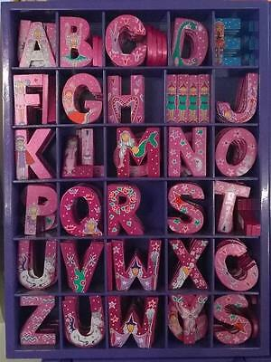 BNWT Wooden Fairytale Letters for sticking to Walls Plaques Furniture Pink Girls