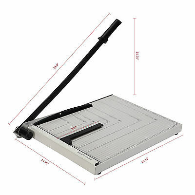 """A3 to B7 Paper Cutter 18""""x15"""" Guillotine Blade Metal Base Trimmer Scrap Booking"""