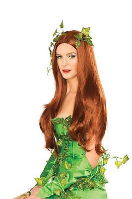 DC Licensed POISON IVY Deluxe WIG Costume PROP COSPLAY w/ Net & Storage Box