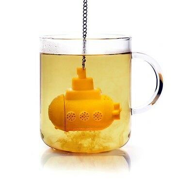 Novelty Tea Sub Yellow Submarine Loose Leaf Herbal Spice Infuser Silicone Spice