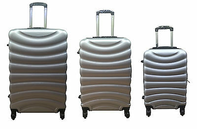 4 Wheel Spinner Hardshell Suitcase ABS Luggage Trolley Cabin Carry On SILVER