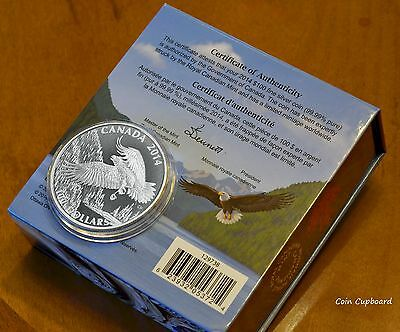 """2014 - Canada $100  """"BALD EAGLE"""" - Wildlife in Motion series"""