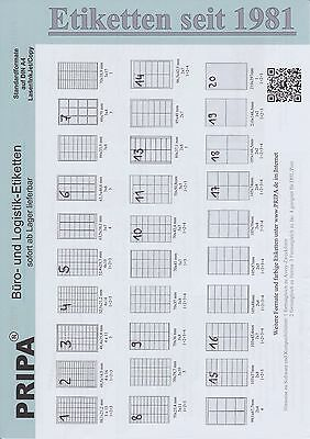 200 Blatt Labels - Free Choice of Format on Din A4 (210x297mm) Self-Adhesive
