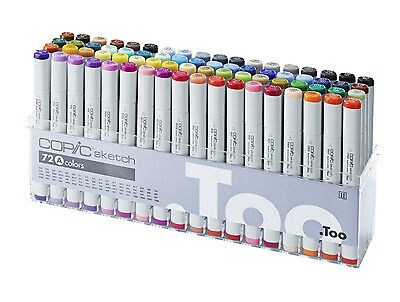 Copic Sketch Marker - 72A Manga Marker Set - Refillable With Copic Various Inks