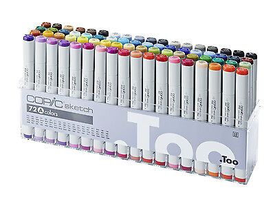 Copic Sketch Marker - 72A Set - Twin Tipped - 72 Unique Colours - Manga Marker