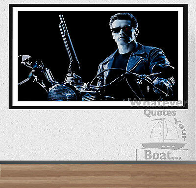 The Terminator 1 2 Arnold Schwarzenegger Movie Poster Wall Art Print + Frame +
