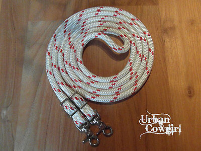 Rope Reins with Conway Buckles 10ft - Western, Parelli, Natural Horsemanship