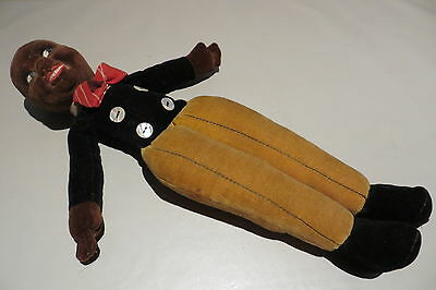 Vintage Norah Wellings Black Boy Doll Label To Foot Free Uk P&p