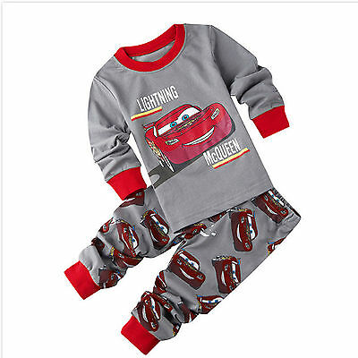 Baby Kids Toddler Boys Girls Cartoon Cotton Warm Sleepwear Nightwear Pajamas Set