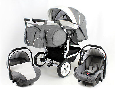 TWINS DUO STARS twin Pram/pushchair+2 car seats;certified to BS5852
