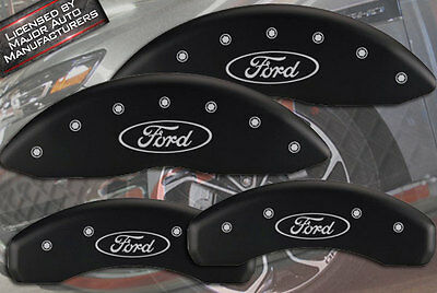 "2010-2016 ""Ford"" Taurus SE SEL Front Rear Matte Blk MGP Brake Disc Caliper Cover"