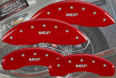 "2010-2016 Ford Taurus SE SEL Front + Rear Red ""MGP"" Brake Disc Caliper Covers"