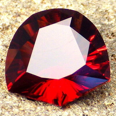 RED ORANGE PYRALSPITE GARNET-E.AFRICA 5.21Ct FLAWLESS-AMAZING COLOR-INVESTMENT